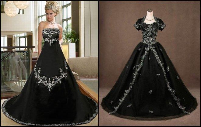Готика и свадьба платье