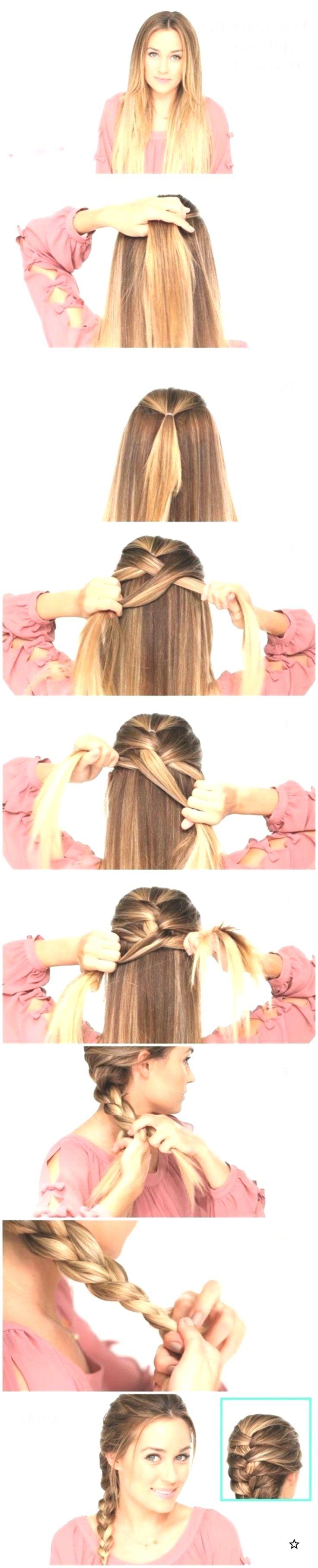 Easy Braided Hairstyles Tutorials: Trendy Frisur für glattes langes Haar, #Braided #Easy #Hair #Frisur #Frisuren