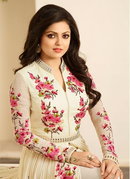 LadyIndia.com #Salwar Suit, Mazedarstore Off White Glamourous Deasigner Embroidered Semi Stitched Anarkali Suit, Salwar Suit, Dress Material, https://ladyindia.com/collections/ethnic-wear/products/mazedarstore-off-white-glamourous-deasigner-embroidered-semi-stitched-anarkali-suit