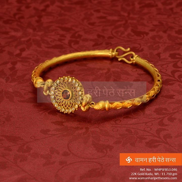 #Classic #attractive #designer #stunning #gorgeous #studded #gold #kada for the best you desire.