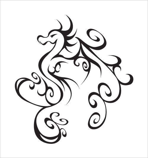 Cute Dragon Tattoos For Women   Illustration / Dusty Melling