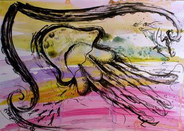 "Saatchi Art Artist Esra Kizir Gokcen; Drawing, ""Swimming"" #art"