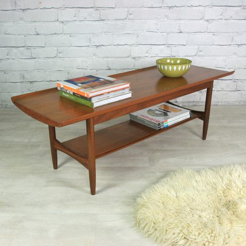Vintage 1960s Teak Coffee Table - Mustard Vintage
