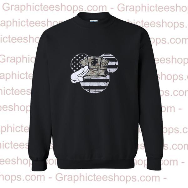 Mouse American Flag Sweatshirt