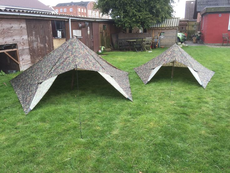 4x4 and 3x3 tarps from DD Hammock as tents