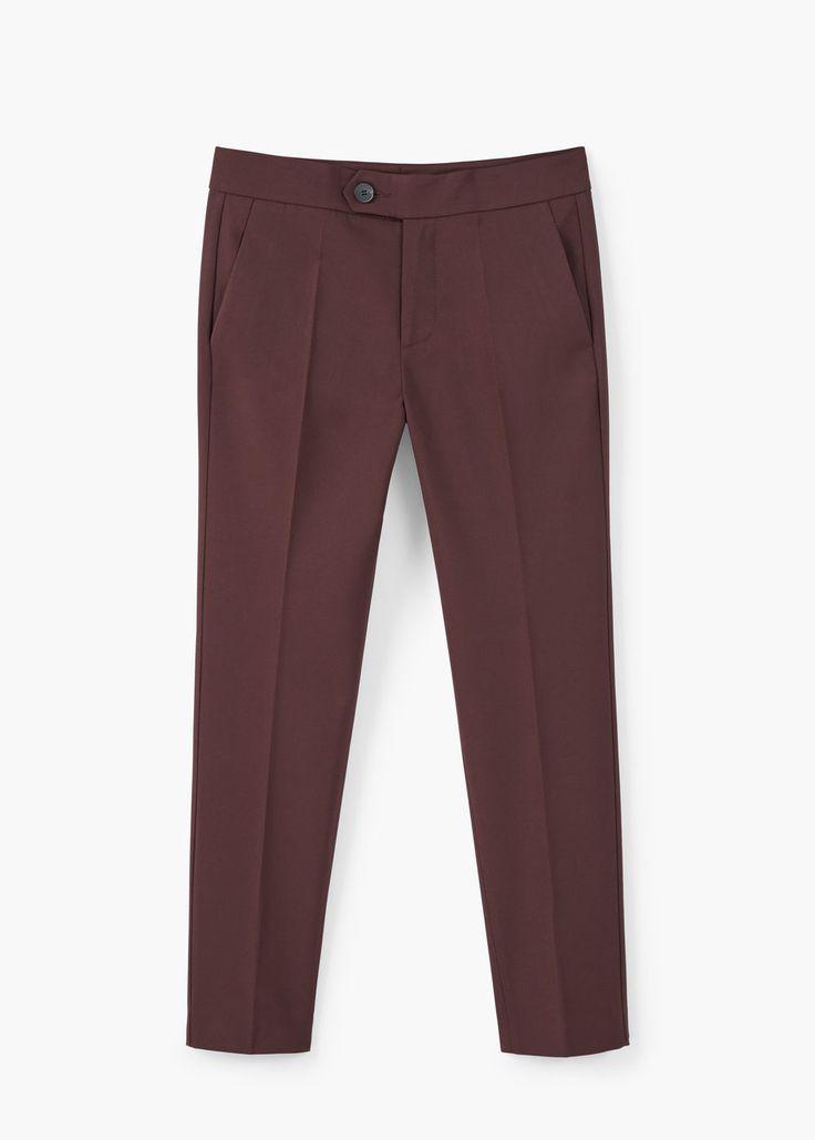 Прямые хлопковые брюки | MANGO МАНГО