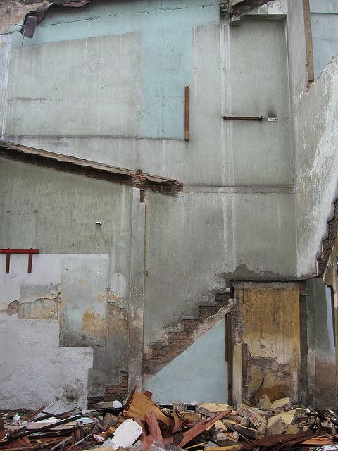Despite this setting being broken down and abandoned, its been reconstructed in photo to form a new art form.