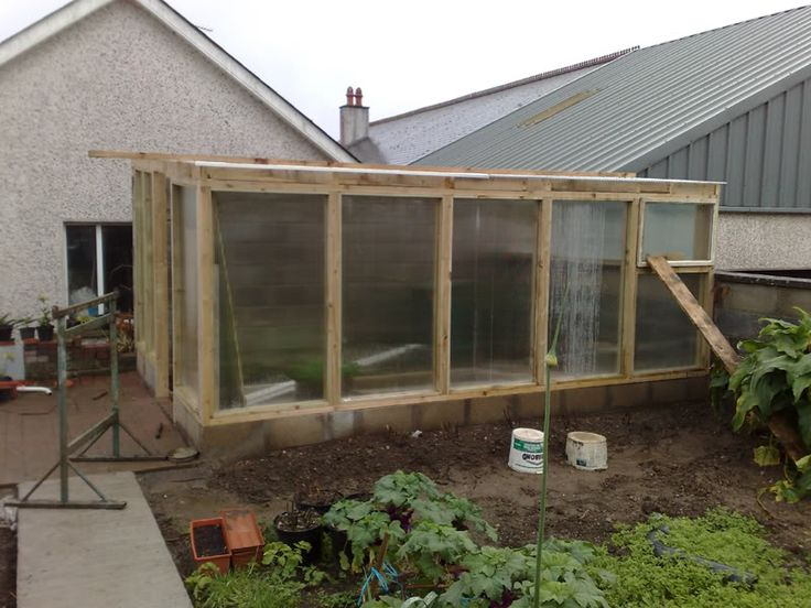 Homemade greenhouse greenhouse pinterest homemade for Easy to make greenhouse