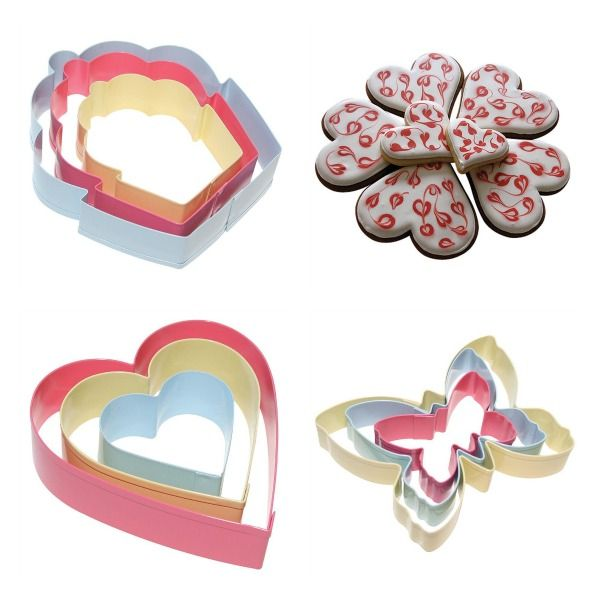 Cut-A-Cookie- Sandwich and Cookie Cutters.. Gorgeous heart, cupcake and butterfly shaped cookies and sandwiches! #foodfun