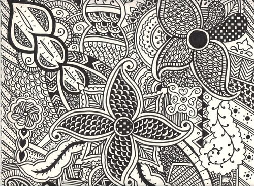 how to draw henna patterns
