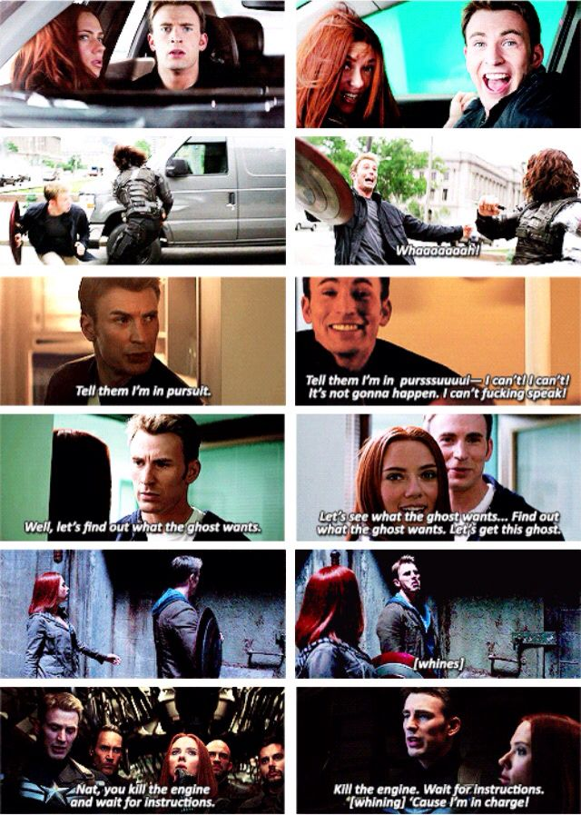 Winter Soldier--> what happened in the movie vs. the bloopers.