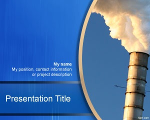 Industry PowerPoint template is a free industrial template for Power Point presentations with a mill pipe or chimney that you can download for industry PowerPoint presentations