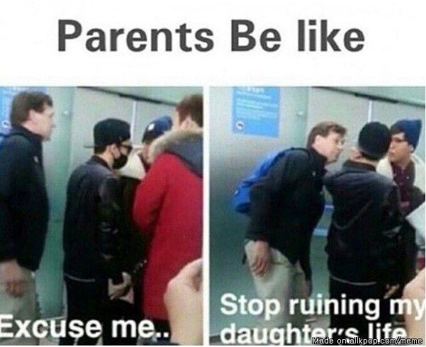 Parents Be like... From: http://www.allkpop.com/meme_view/o6oe5k #kpop #kpopmeme