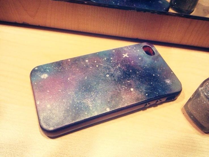 DIY Iphone case.  Galaxy Iphones. Haha.