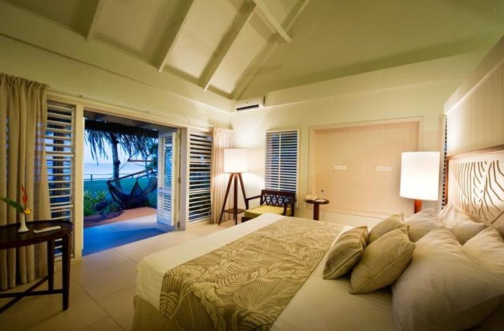 Deluxe Beach Front Bure at Fiji Hideaway Resort & Spa  www.islandescapes.com.au
