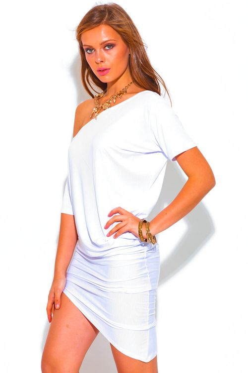 All white backless bejeweled chiffon long sleeve fitted cocktail party mini dress? | Cute Clothes For Cheap, Unique Dresses, Cute Top
