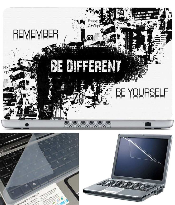 Be Different - Laptop Skin 15.6 Inch With Key Guard And Screen Protector