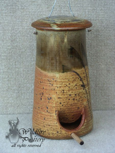 Bird Feeder - Wildfire Pottery : Functional art to hold the ordinary and the precious