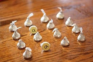 Silver Bells Memory game. If you get a match you get to eat it. Cute!