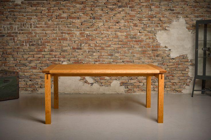 Kersenhouten tafel - tafel met zwevend blad - gemaakt door meubelmaker Casper Rutges - kersen tafel