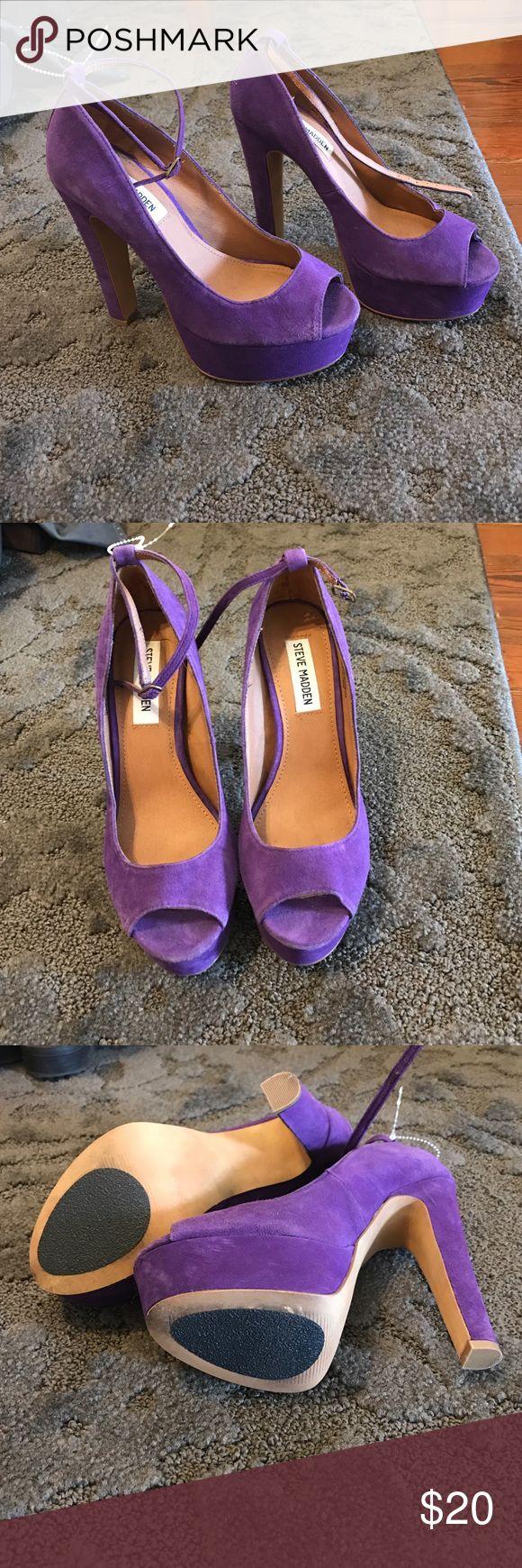 Steve Madden purple suede platform heels Steve Madden purple suede platform heels Steve Madden Shoes Platforms