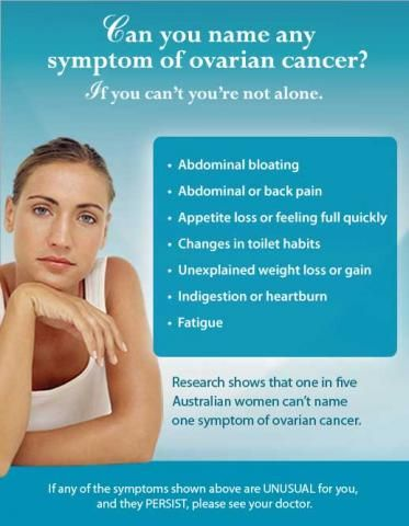 What are the early signs of ovarian cancer
