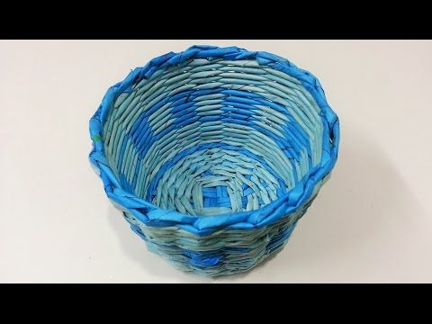 How to make newspaper basket - YouTube
