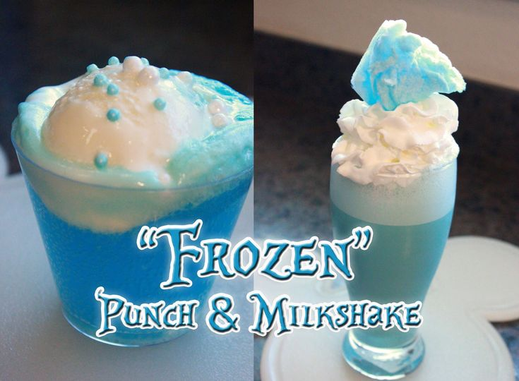 """""""FROZEN"""" Inspired Snowball Punch Recipe and Ice Blue Milkshake Recipe - Here are two delicious beverages inspired by Disney's animated film: """"FROZEN"""". The first is a sparkling berry """"Snowball Punch"""" that is foaming over with vanilla ice cream. The second is an """"Ice Blue Milkshake"""" topped with whipped cream and cotton candy. Both are sure to be a hit with your family. --- http://youtu.be/7uD0_5vTD4E"""