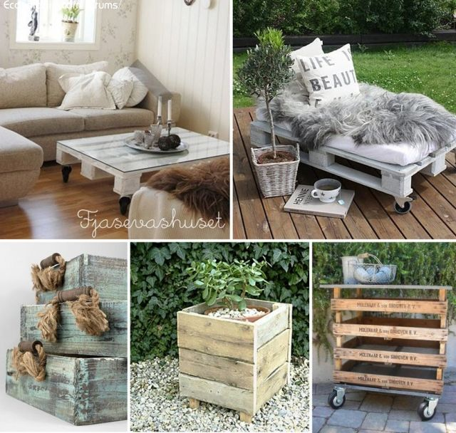 id es co deco avec r cuperation de palettes de bois recyclage direct id es trucs et astuces. Black Bedroom Furniture Sets. Home Design Ideas