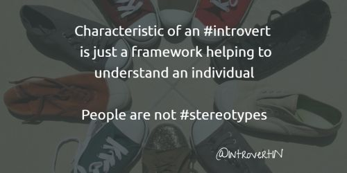 Characteristic of an #introvert is just a framework helping to...