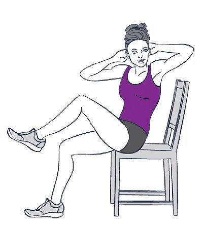 Image result for Chair turns exercise