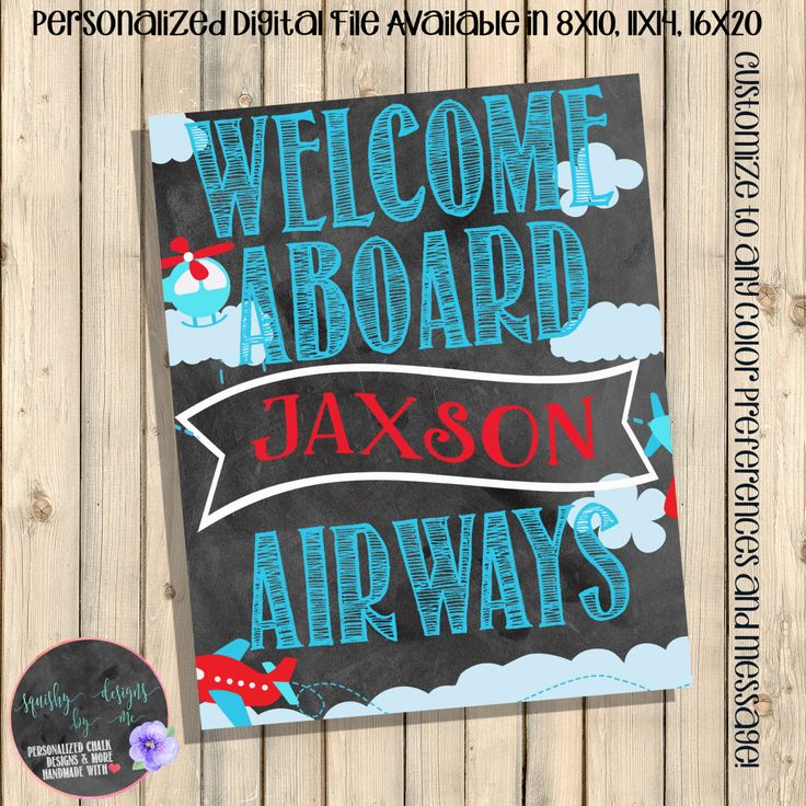 Airplanes Birthday Party Welcome Sign, Planes in the Air Yard Sign, Welcome Aboard, Airplanes Party Decorations, Birthday Decor, Digital by SquishyDesignsbyMe on Etsy