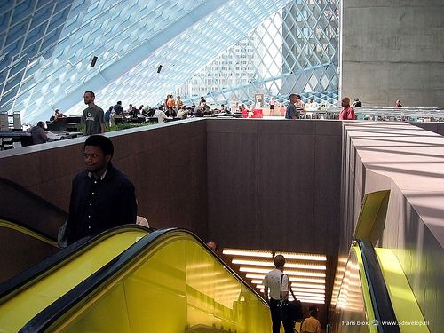 Public library, designed by Rem Koolhaas, Seattle, USA