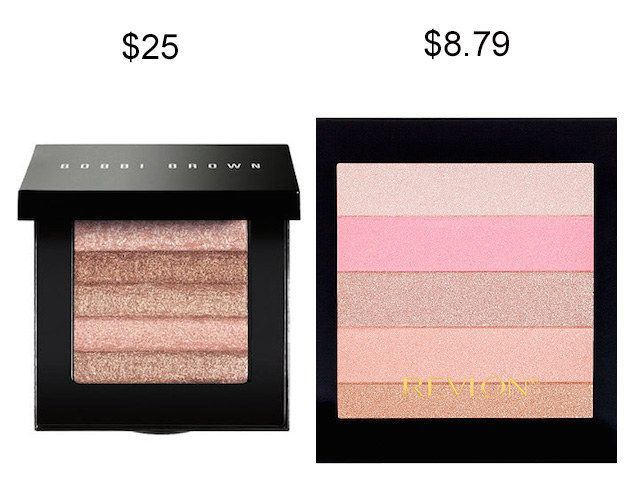 Try Revlon Highlighting Palette in Rose Glow instead of Bobbi Brown Shimmer Brick in Pink Quartz and save about $16. | 19 Insanely Good Makeup Dupes That Will Save You Tons Of Money