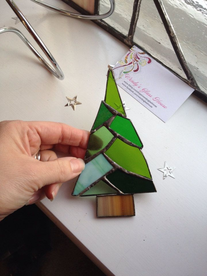 Stained glass Christmas Tree by Wendysglasshouse on Etsy