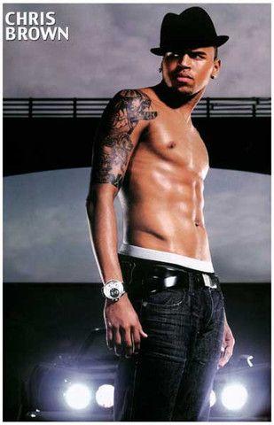 Chris Brown Shirtless 11x17 Poster