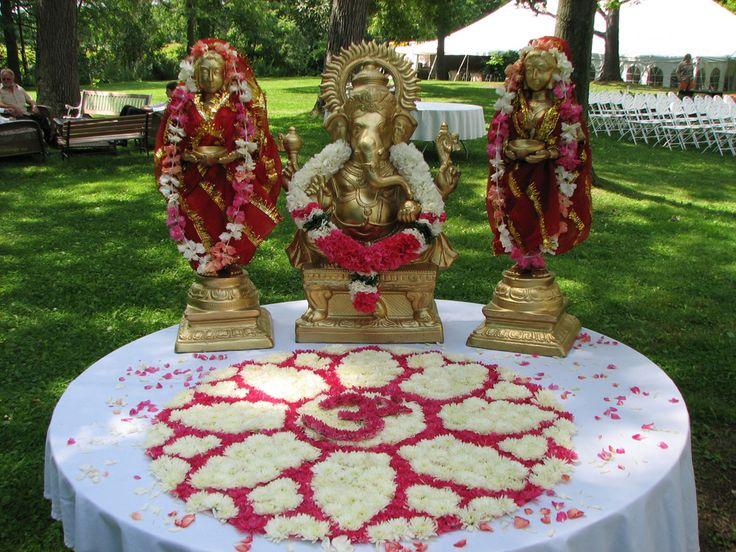 Ghanesa Set up with flower rangoli