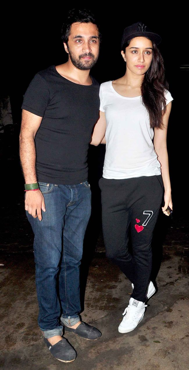 Shraddha Kapoor with brother Siddhanth at special screening of 'Finding Fanny'. #Bollywood #Fashion #Style #Beauty