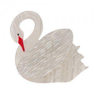 Sabine the Swan Brooch
