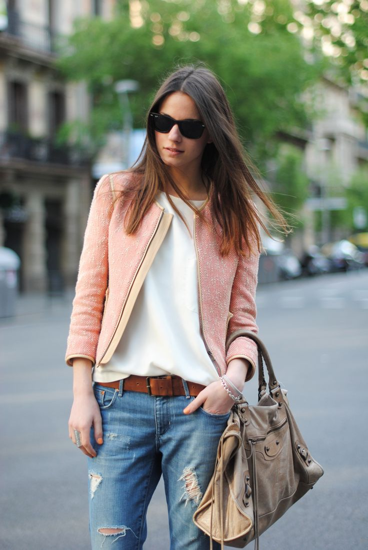 : Balenciaga Bag, Fashion Style, Soft Pink, Style Inspiration, Boyfriends Jeans, The Mode, Street Chic, Casual Chic Outfits, My Style