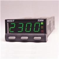 WEST 2300 1/32 DIN Temperature Controller    -  Simple operation for easy setup  -  Largest 4 digit red/green digital display in a 1/32 DIN package  -  PID control for (auto-tuning) hands-free operation with manual override tune capability for specialized applications  -  Solid state relay SSR for primary control and alarming  -  Optional second alarm relay (option) or RS-485 communication