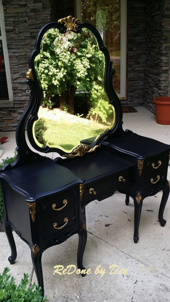 Example of a Vanity Desk Secretary Dresser Ladies Writing Desk Makeup Vanity Let me make one for you!