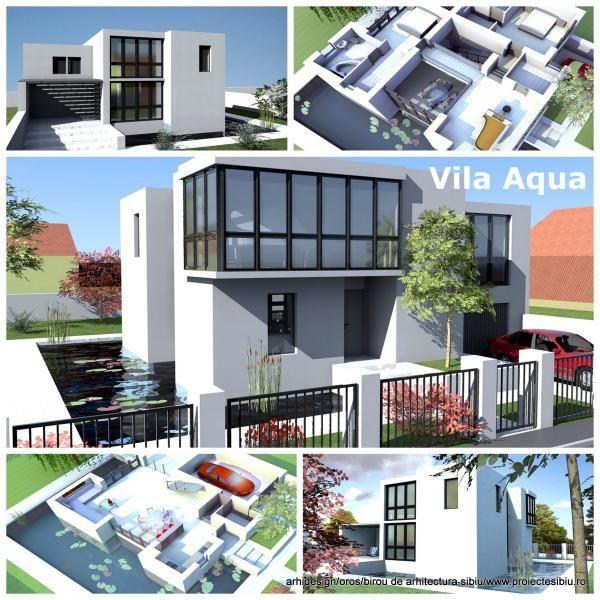 Proiect Casa Cadre Beton & Imprejmuire cu Apa