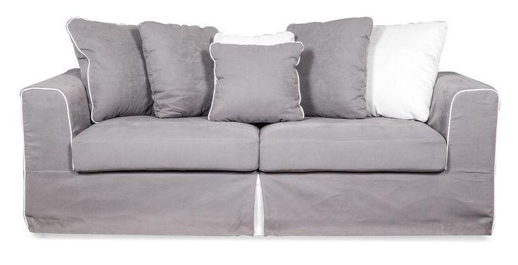 Perla slip-cover couch.