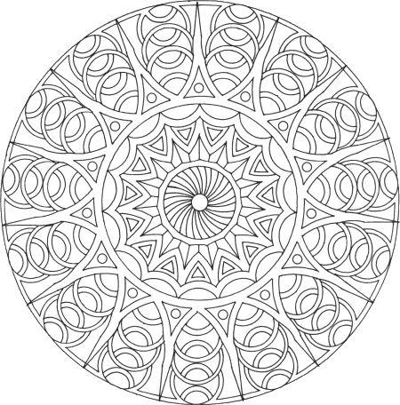 Mandala à colorier : Mandala Rond 9 - Mandala gratuit à télécharger, à imprimer et à colorier