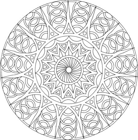 Mandala colorier mandala rond 9 mandala gratuit - Mandala a colorier a imprimer ...