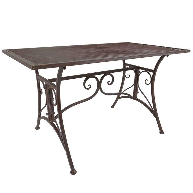 Titan Outdoor Rustic Antique Coffee Table Porch Patio Garden Deck Decor Rustic #TitanOutdoors