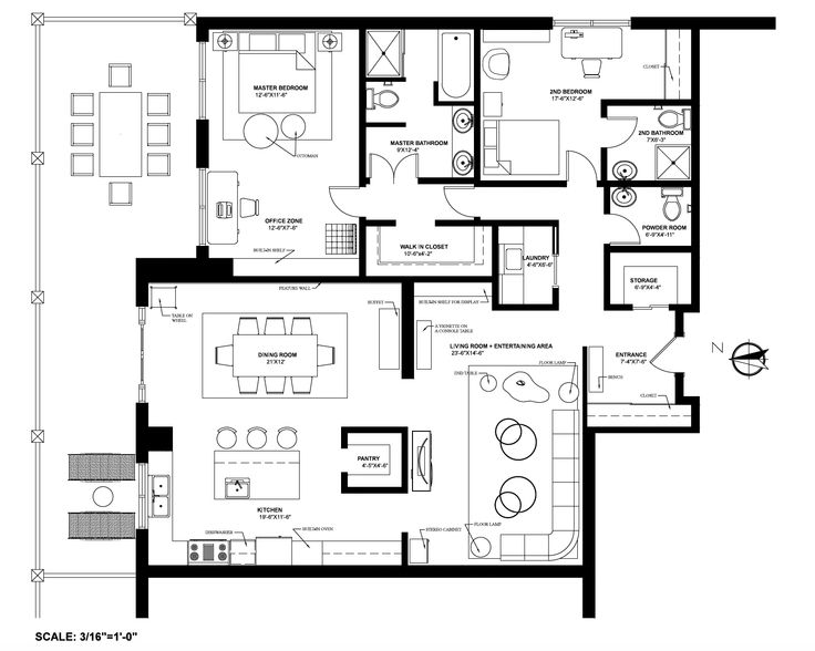 Floor plan for a condo