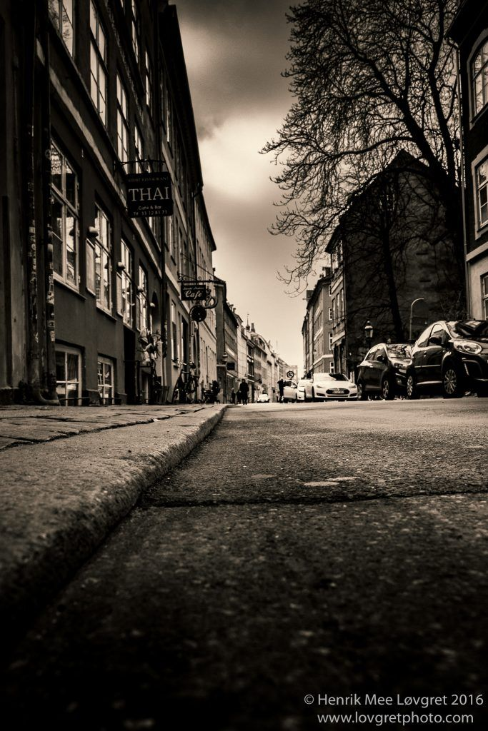 Tarmac view from the latin quarter in Copenhagen