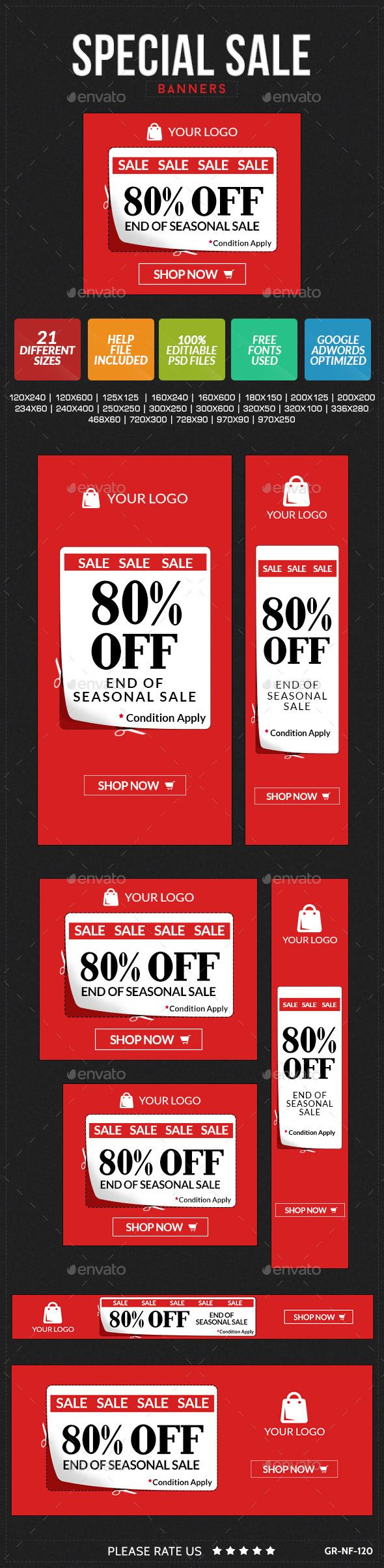 Special Sale Web Banners Template PSD | Buy and Download: http://graphicriver.net/item/special-sale-banners/9096931?WT.ac=category_thumb&WT.z_author=doto&ref=ksioks